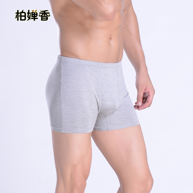 Hodginsii mulberry silk panties silk knitted boxer shorts male at home mid waist trunk