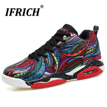 Men/Women Basketball Shoes Big Size Floral Breathable Sport Trainers for Couple 2019 Ifrich Damping Non Slip Sneakers