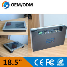 18.5″ Industrial Resistive Touch screen Resolution 1366×768 Panel PC with D525 cpu / 4 USB ports/ 5 COM Intel D525 1.8ghz