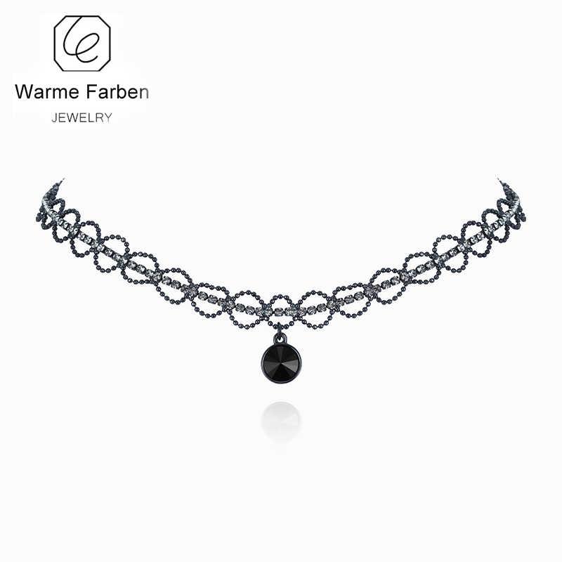 Warme Farben Trendy Women Choker Necklaces Zircon Crystal bead from  Swarovski Vintage Necklace Chain Jewelry Ladies b649849c7177