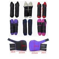1 Pair Horse Leg Protector Leg Boots Wraps Riding Equestrian Horse Care Legging Leg Brace For Horsemanship