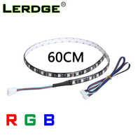 LERDGE 3D Printer Accessories LED Light RGB 5050 LED Strip with Cable for Lerdge Board Parts Dual Extruder Module RGB Control