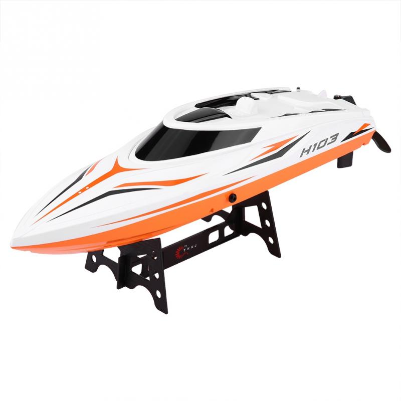 все цены на New Arrival 2.4GHz RC Boat Remote Control 28-30km/h 4 Channel High Speed RC Boat Racing Speedboat Model Toys Ship Gift For Kids
