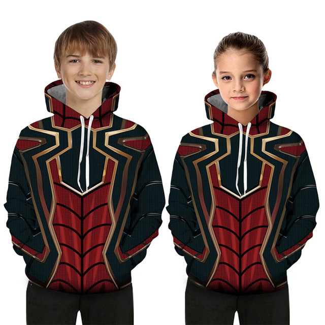 Avengers 4 Girls Jacket Quantum warfare Cosplay Hooded Drawstring Loose Casual Boy Sweater Spring Autumn Hooded Coat Kid Clothes