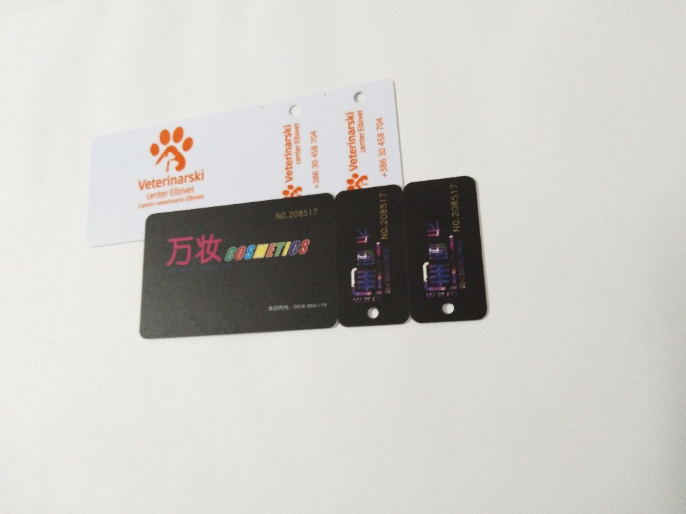 1000pcs Abnormal Plastic Card PVC Die Cutting Snap-off Keychain Combo Cards with Varied Sequential Barcodes rosenhan abnormal psychology 2ed paper