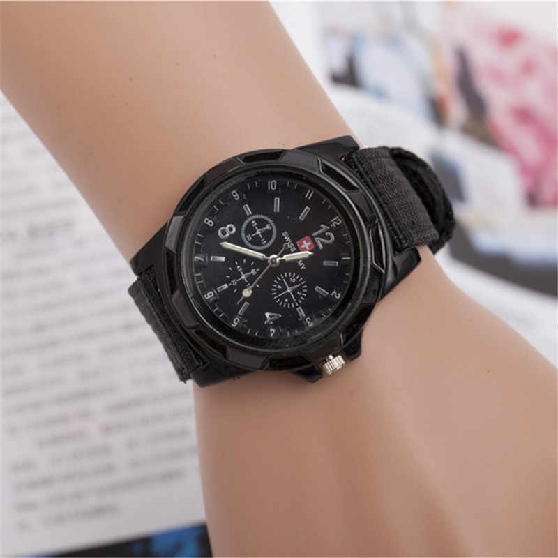 2019 Fashion Children Watches Boy Nylon Strap Wristwatch Student Casual Quartz Watch Kids Lovely Cartoon Watch Clock de reloj