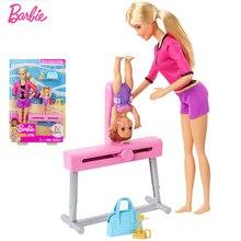 Originals Barbie Coach Girl Princes Doll Gymnastics sports Girl Dolls Boneca Brinquedos  For Birthday Gift Toys for child FXP39