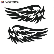 SLIVERYSEA 1Pair Angel Wing Car Stickers Auto Motorcycle Rearview Mirrow Car Styling Sticker Decals Truck Decoration 1pcs free shipping angel wing car stickers auto emblem logo paper decoration car logo sticker