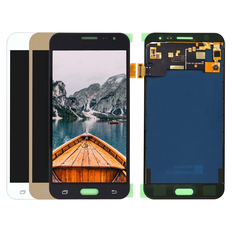Para Samsung Galaxy J3 2016 J320 J320A J320F J320M Display LCD + Touch Screen Digitador Assembléia Não ajustar tbrightness