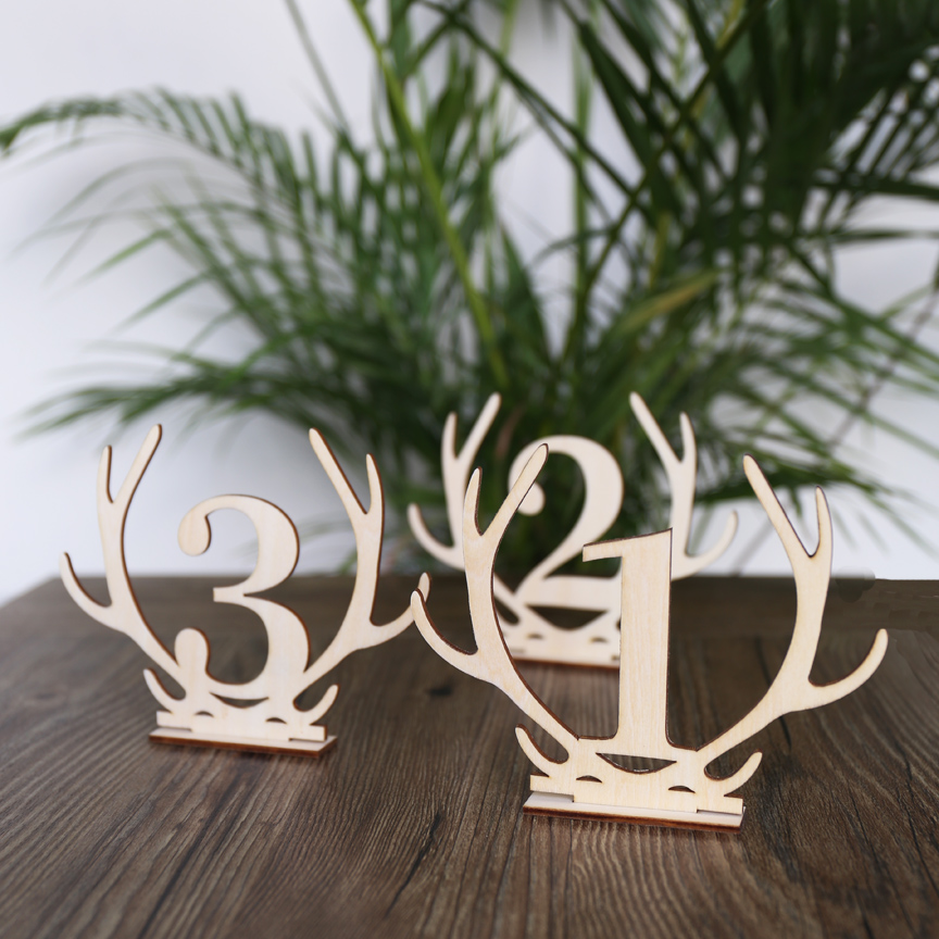 Wooden Antler Table Numbers,Boho Wedding Standing Numbers, Reception  Centerpieces Sticks, Rustic Wedding Centerpiece,  In Party DIY Decorations  From Home ...