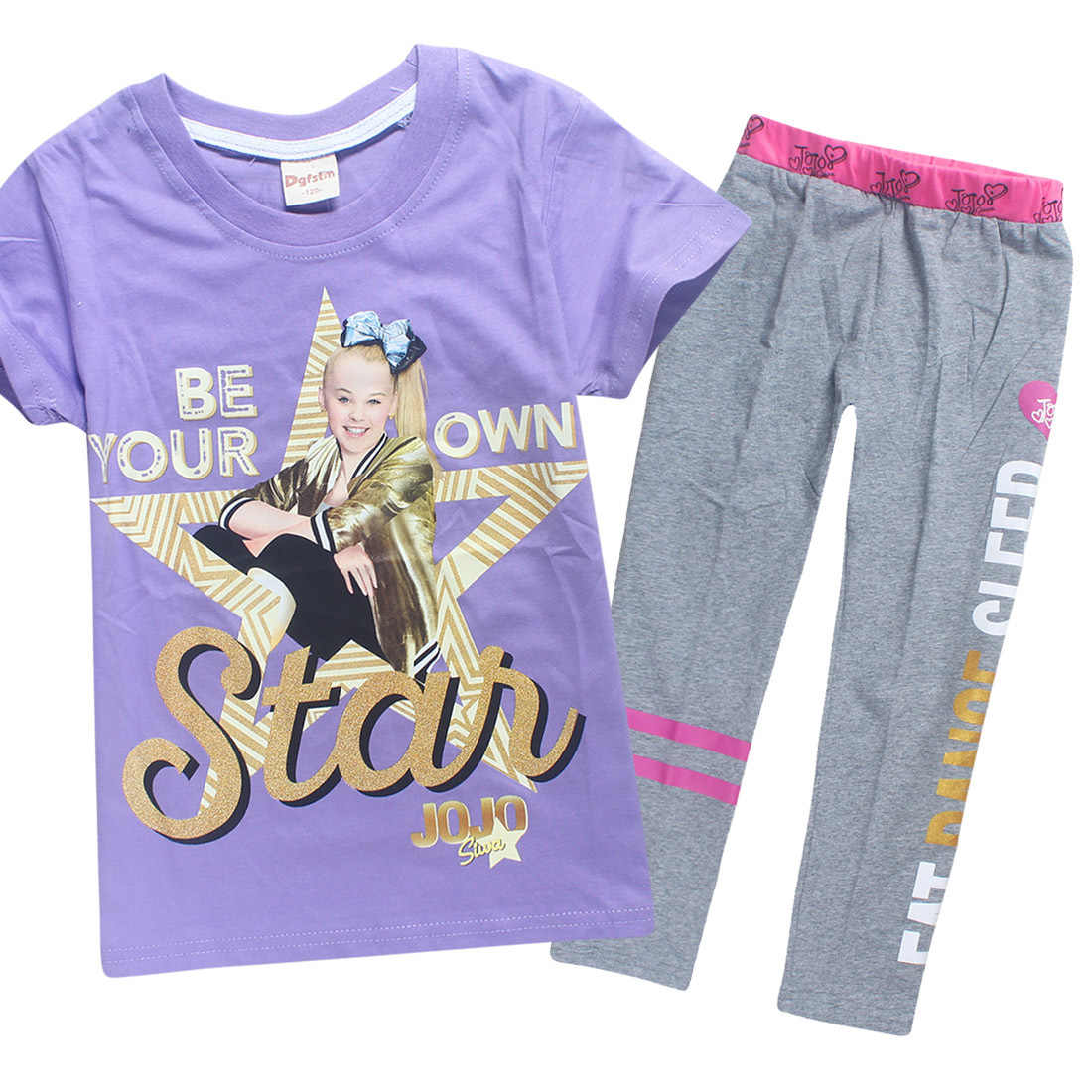 2c84890cc8 Summer Fashion Short Sleeve Fashion Pure Cotton 2PCS T Shirts Pants  Children's Clothing Sets Kids Tracksuits for Baby Girls