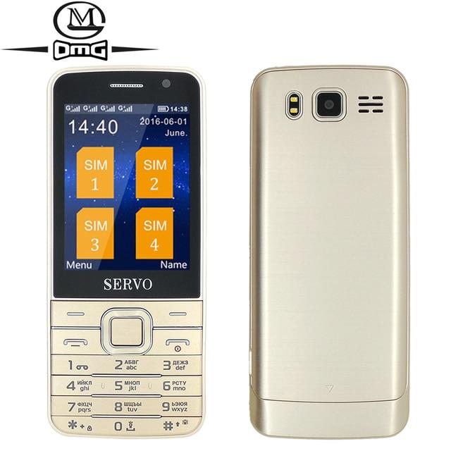 """Bàn phím nga Quad Sim thẻ Old man di động điện thoại di động Original SERVO V9500 2.8 """"màn hình GPRS đèn pin Wireless FM WhatsApp"""