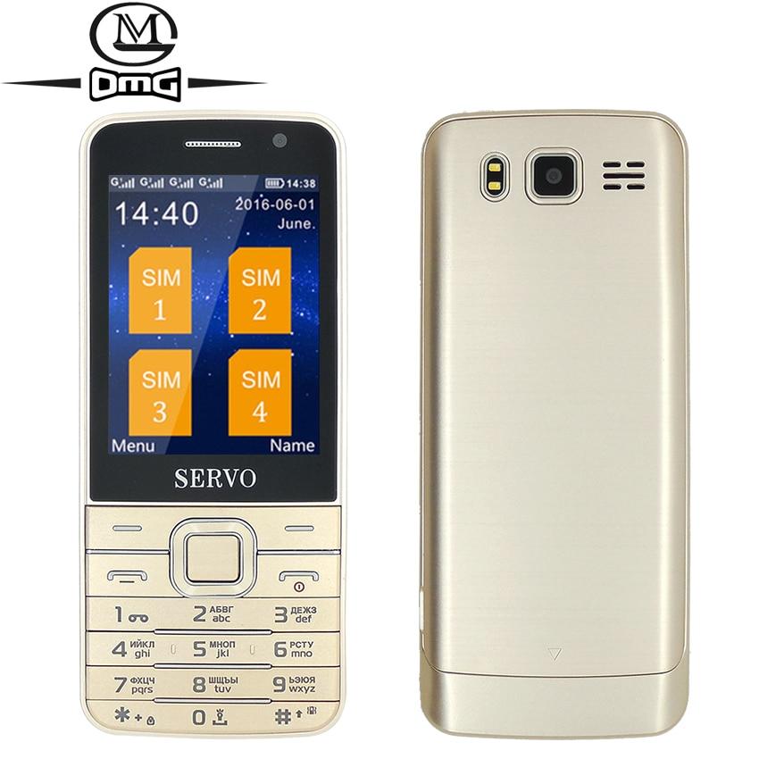 Russian keyboard Quad Sim card Old man mobile cell phone Original SERVO V9500 2 8 Screen