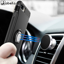 AKABEILA Case For iPhone 11 Pro Max Cover Finger Ring Car Magnet Matte Protector 6S 7 8 9 Plus X Bumper