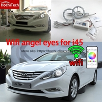 HochiTech Excellent RGB Multi Color Halo Rings Kit Car Styling For Hyundai Sonata I45 2009 2014