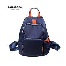 Moljeaga 2017 случайный нейлон рюкзак водонепроницаемый рюкзак женщины школьные сумки для подростков школьная сумка моющиеся панелями рюкзаки