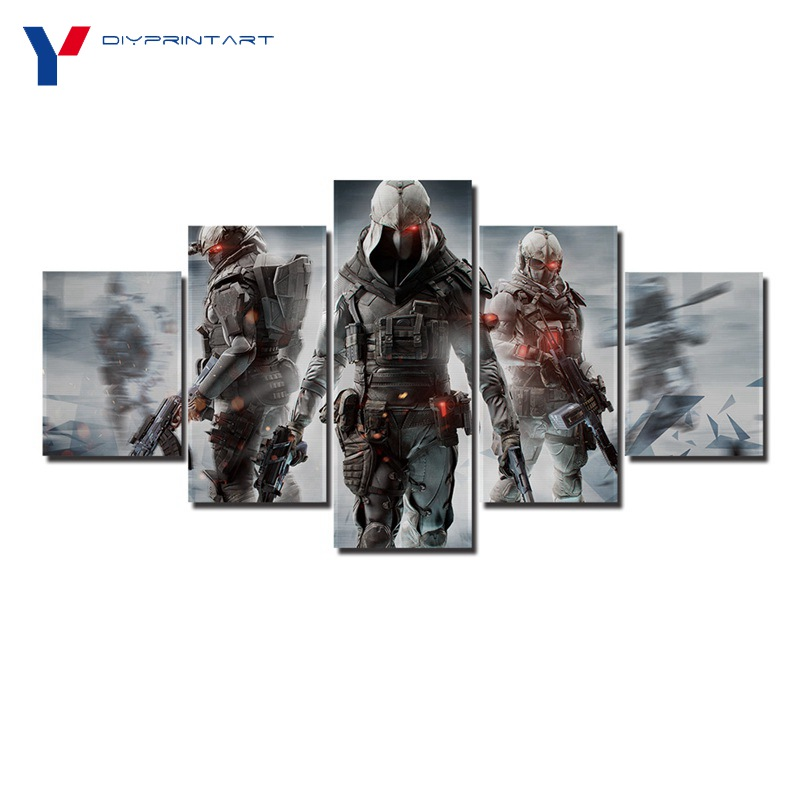 Tom Clancys Ghost Recon Online 5 Pcs/set Canvas Wall Art Game Decorations for Living Room A0791