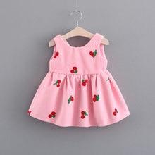 4df9cffa23fad Enfant en bas âge filles princesse robes enfants automne vêtements nouvelle  mode mignon cerise laine gilet bébé fille robe 1 an .