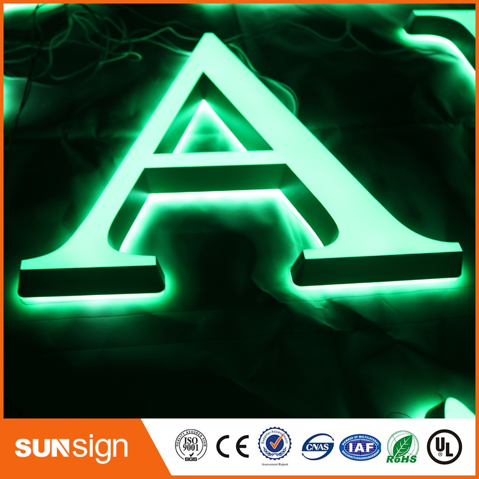 Alibaba-express Coffee Decoration LED Illuminated Acrylic Letters Signs