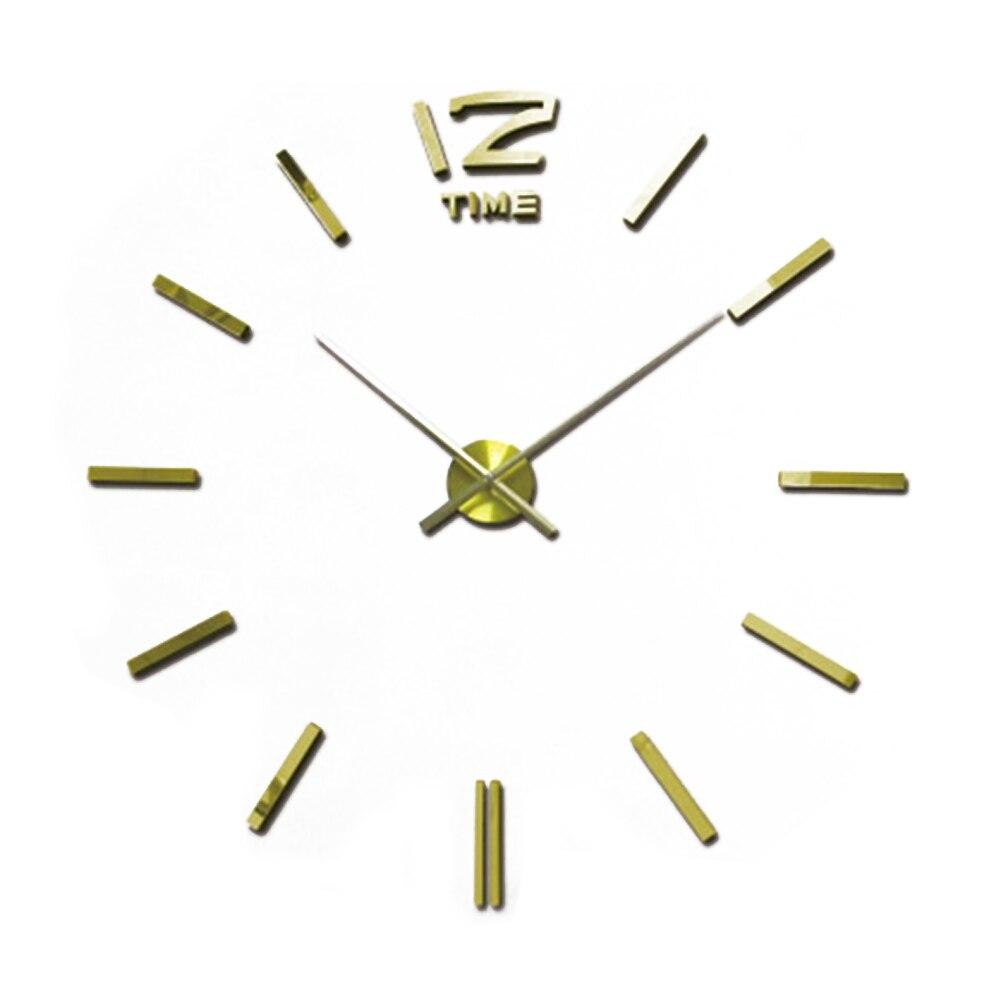 2018 Hot Sale 3D Velké nástěnné hodiny Moderní design Zrcadlové nástěnné samolepky DIY Hodiny Hodiny Murale saat Home Decor Reloj De Pared