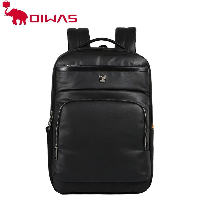 da9e642abb OIWAS women genuine leather backpack black laptop backpacks waterproof  backpack travel backpackFor school OCB4273