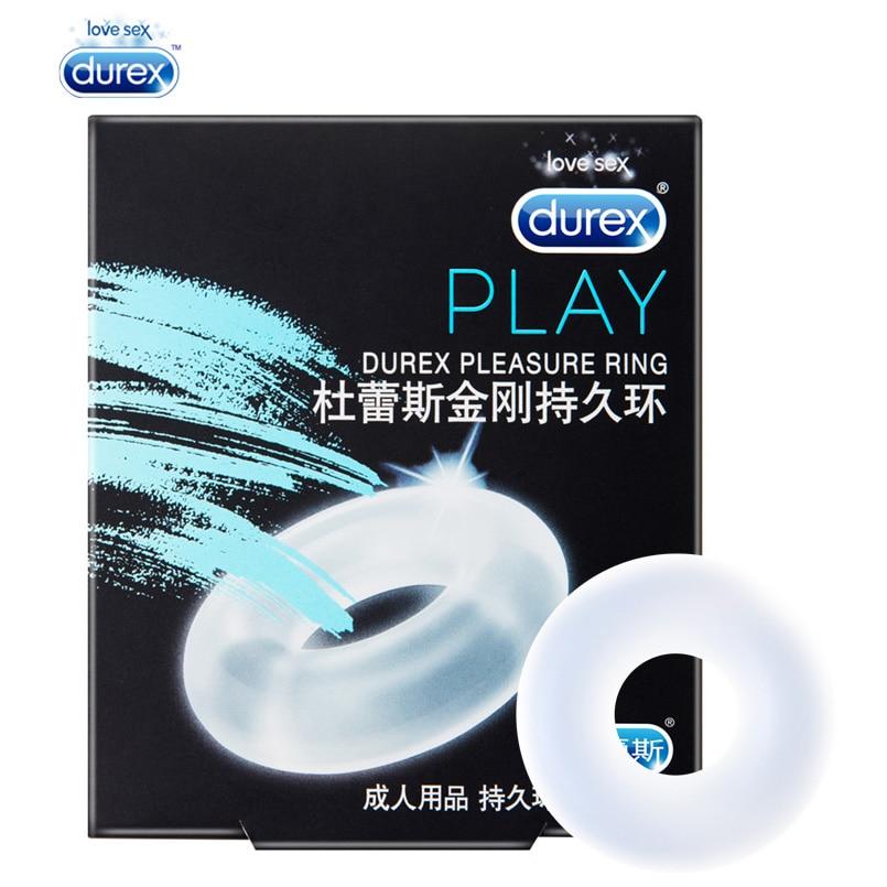 Durex Vergnügen Ring Erweiterung Pro Extender Fester Erektion Silikon Penis Cock Ring Silikon Unterwäsche Sex Spielzeug für Männer