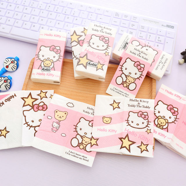 Aliexpresscom Acquista 2 Pzlot Kawaii Kitty Tovaglioli Di Carta