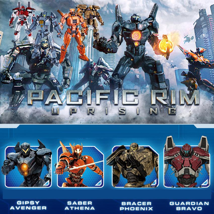 New Toys Building Blocks bricks fit legoings Pacific Rim Robot figures avengers Gipsy Saber Athena Bracer Phoenix Guardian gift