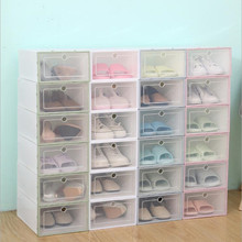 Multifunctional Storage box Transparent Plastic Stackable Case Sundries Container  Home Use Shoebox