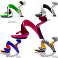 2016 verão nova moda Europeus e Americanos sem fundo Mulheres saltos plataforma sapatas das sandálias Das Mulheres sapatos de casamento Mulheres bombas