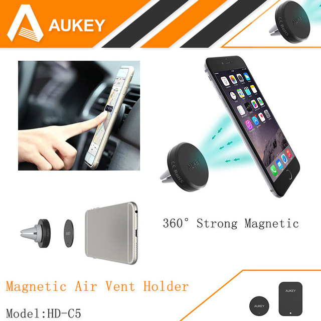 28934fcd7b450 AUKEY 360 Degree Universal Car Holder Magnetic Air Vent Mount Smartphone  Dock Mobile Phone Holder
