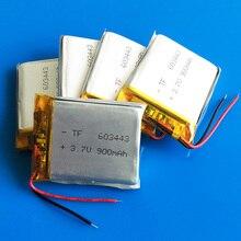 Lot 5 pcs 3.7V 900mAh lipo polymer lithium rechargeable battery for MP3 GPS navigator DVD recorder headset e-book camera 603443