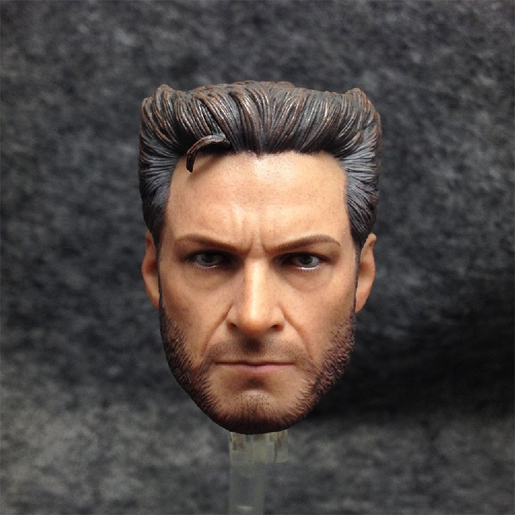 1/6 Soldiers Head of X-MAN wolverine 4.0 Hugh Jackman Head Sculpture Model mak custom 1 6 scale hugh jackman head sculpt wolverine male headplay model fit 12kumik body figures