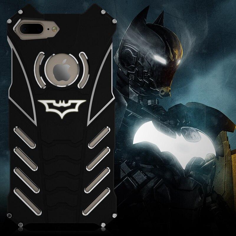 R-just Design Metal Aluminum LuxuryTough Armor THOR Batman Phone Case for IPhone 6 6S plus 7/ Plus 7 plus iphone 8 Housing Cover
