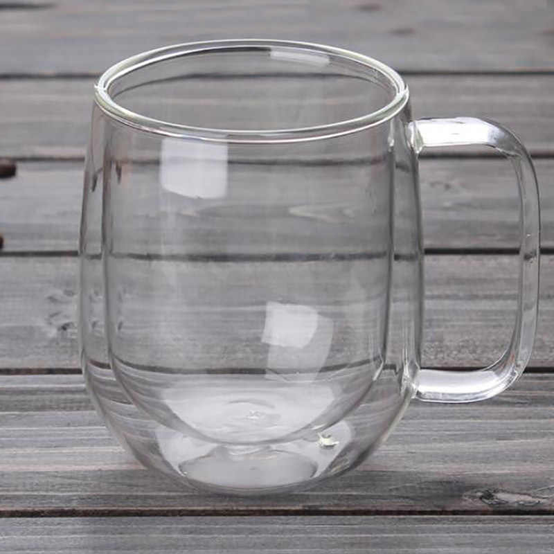 9d9db9fc9db ... Double Wall Glass Cup Tea Coffee Cup Set with Handmade Heat-resistant  Creative Mug Insulated ...