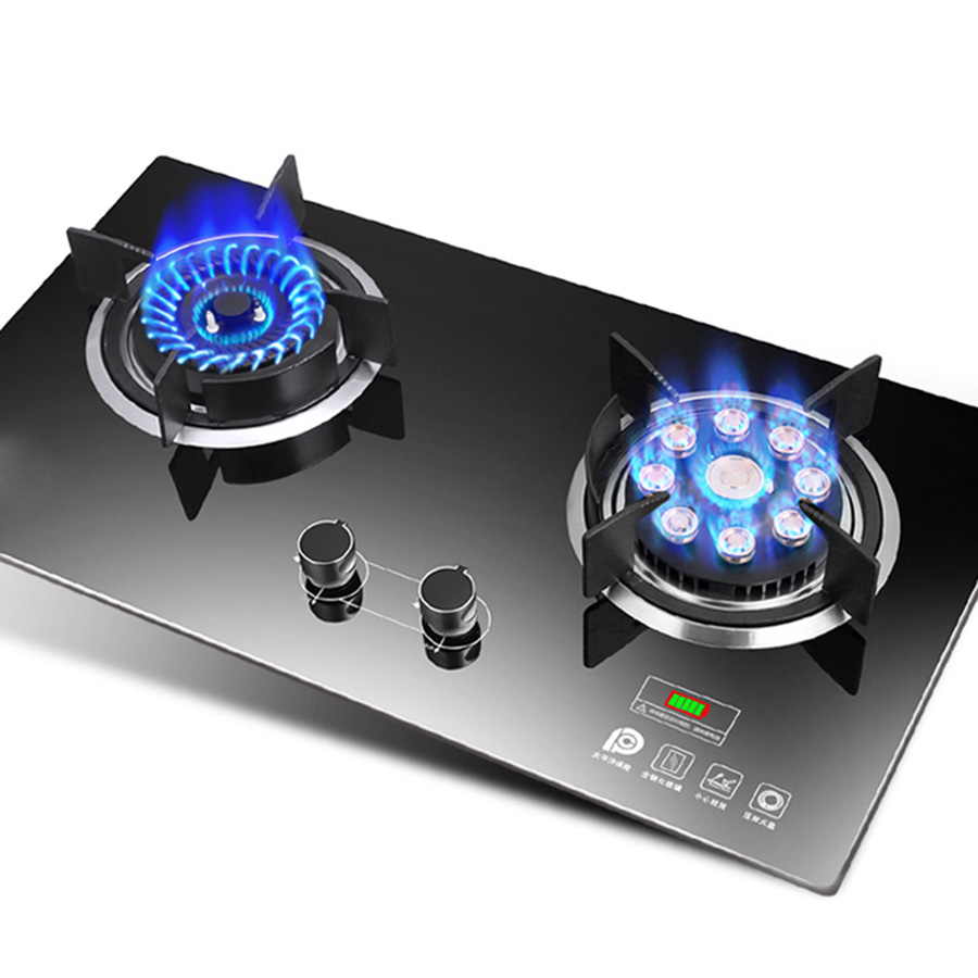 Domestic Gas Stove Embedded Dual-range Natural Gas Liquefied Gas Bench-top Stove Large Home Kitchen Ranges Gas Cooktop