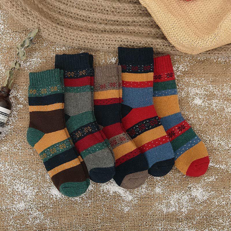 5 pairs fashion New Winter Thermal Cashmere   Socks   Women Warm Rabbit Wool   Socks   Women's thicken   socks   girl Casual   Socks