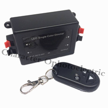 3 Key RF Remote Control Wireless LED Single Color Dimmer Switch Controller 12V 24V DC 8A цена