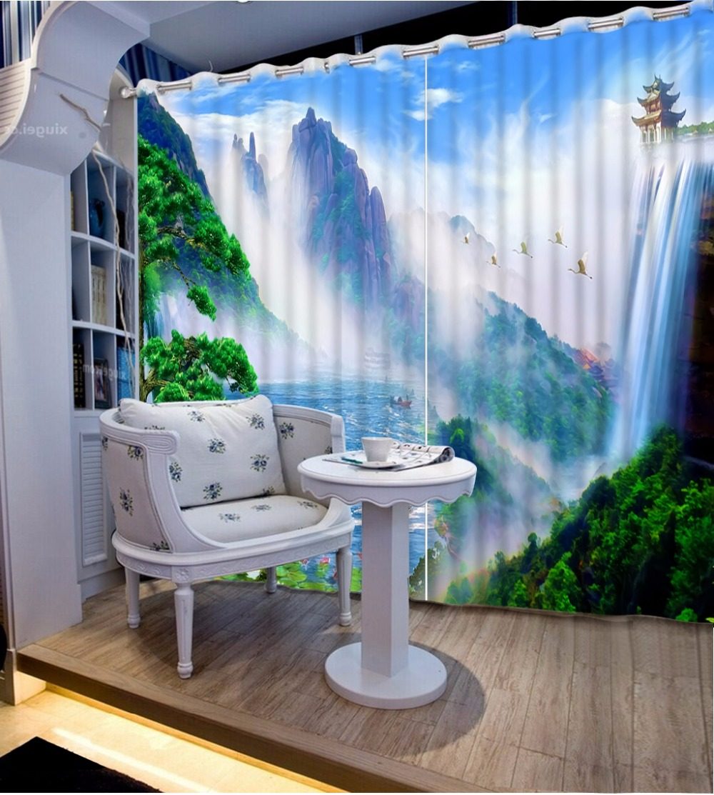 3d curtains for Living room window Beautiful world pattern Beding room high-precision shade 3d curtains CL-DLM7233d curtains for Living room window Beautiful world pattern Beding room high-precision shade 3d curtains CL-DLM723