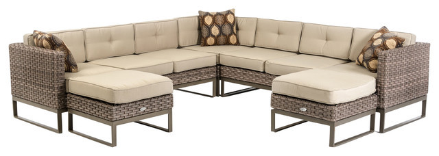 2015 Modern Rattan Furniture Patio Outdoor Sectional Sofa Set-in ...