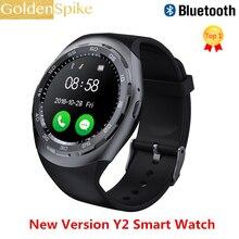 Лучшие Смарт-часы Y2 Bluethooth 4,0 reloj inteligente ритма сердца здоровья Фитнес трекер Smartwatch для samsung Android IOS htc телефон