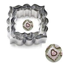 Coupe-biscuits en acier inoxydable, 4 pièces/paquet, outils de cuisine pour gâteau de mariage, cadre de bénédiction en forme de Biscuit, moule à chocolat, pochoir