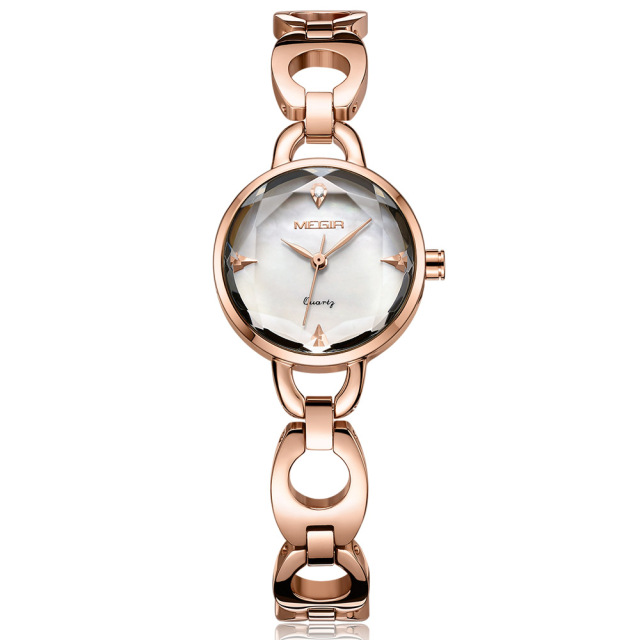 Megir Women Watches Top Brand Luxury Rose Gold Elegant Steel Woman Watch 2018 Br