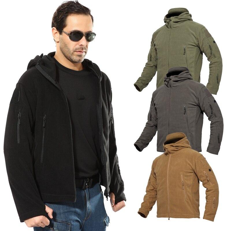 Softshell Hiking Jacket Winter Mens Tactical Military Hoodies Jacket chaqueta piel hombre For Hunting Skiing Jacket