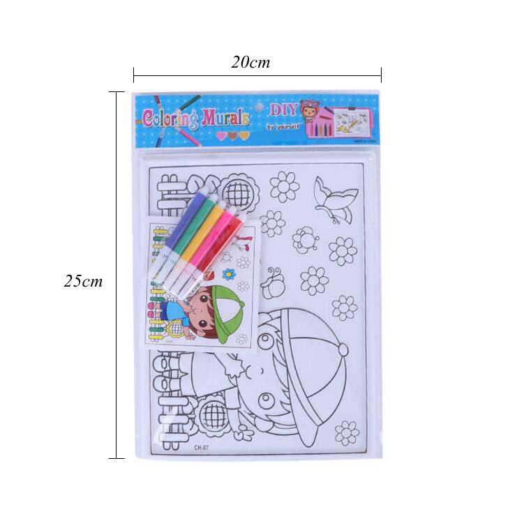 1 Pc Bambini 3D Colorazione Pittura Giocattoli Del PVC Del Fumetto Sollievo Pittura Con Colorazione Penne Montessori Giocattolo Educativo per I Bambini GYH