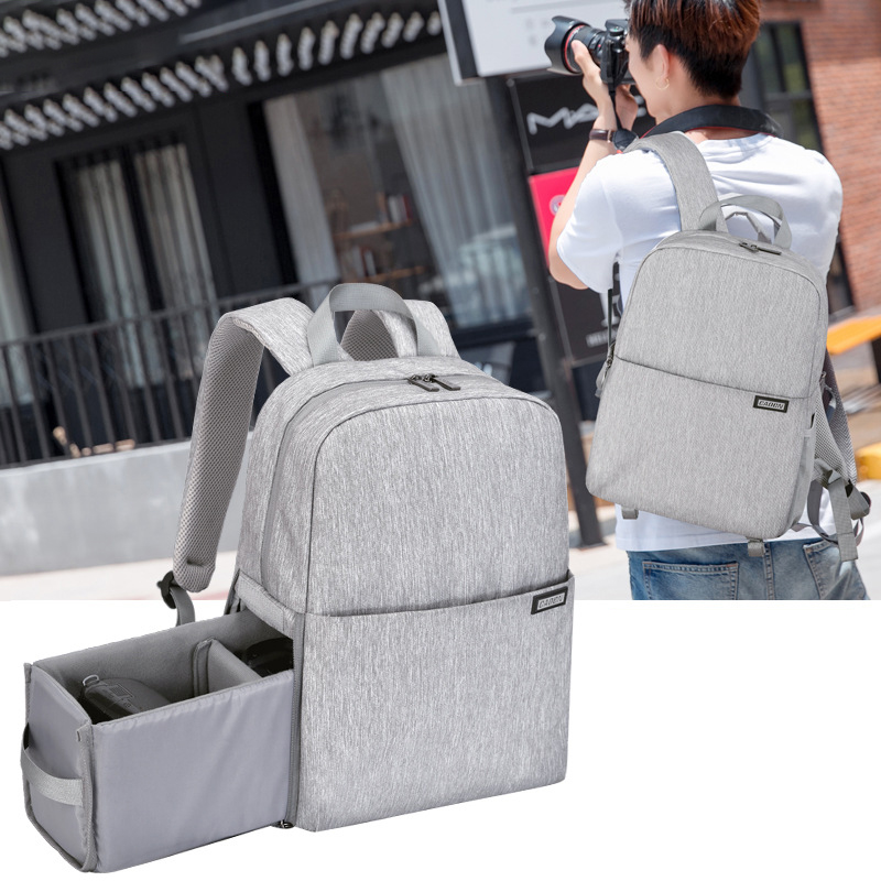 Backpack Camera Canon Soft-Bag Video-Shoulder Nylon Multifunction Women for Nikon/Dslr/Xa148k
