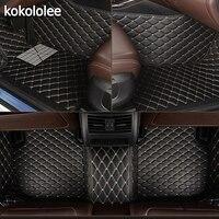 kokololee Custom car floor mats for Cadillac all models ATS CT6 SLS XT5 SRX CTS Escalade CT6 ATSL XTS car accessories styling