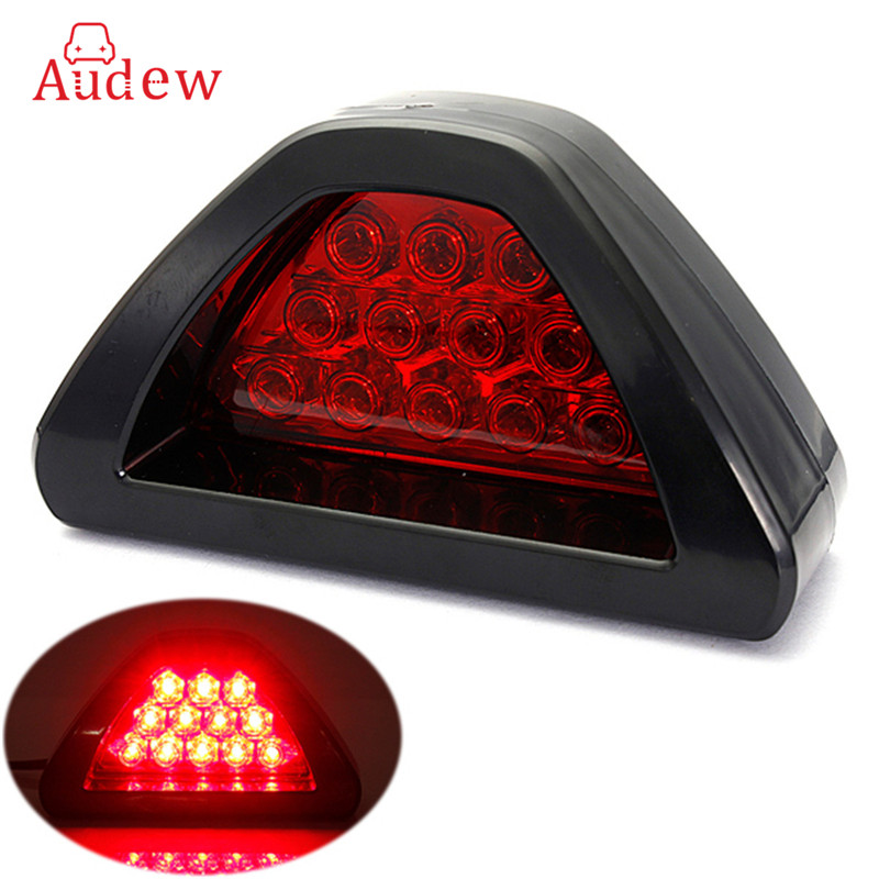 Universal Red Car Vehicle 12 LED Rear Tail Brake DRL Stop Light Strobe Flash Fog Lamp F1 Style 40 led 34cm dc12v led light vehicle car light source auto fog stop tail rear brake warning light lamp high quality red