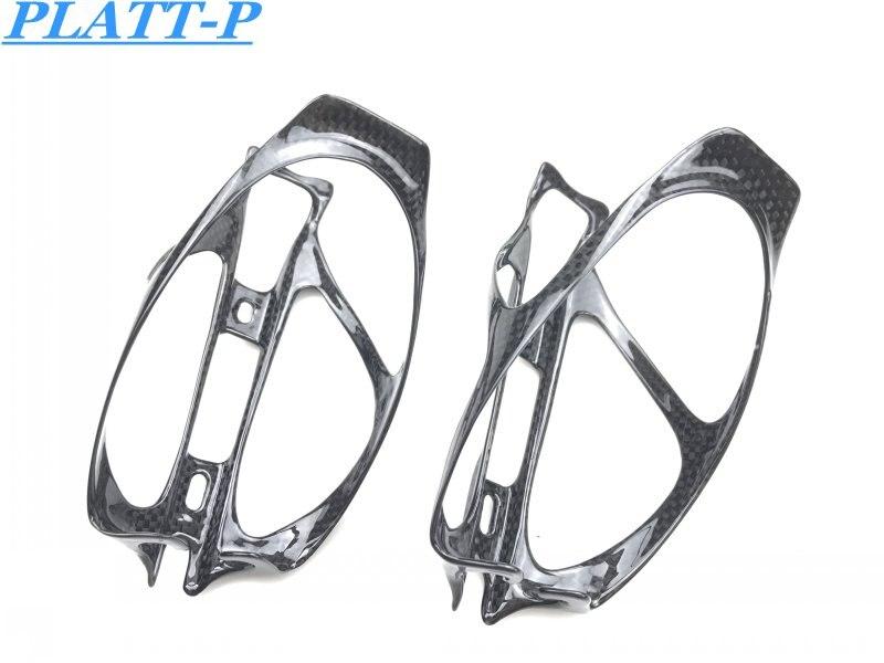 2 pièces./Lot vélo de cyclisme léger plein Fiber de carbone porte-bouteille noir/universel porte-bidon pièces durables accessoires PLATT