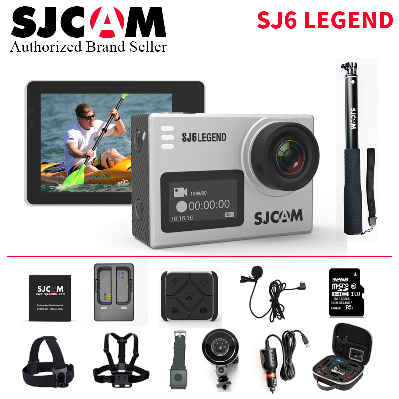 Original SJCAM SJ6 LEGEND 2.0 Touch Screen 4K Remote 30M Waterproof Diving Sports Action Camera Car DVR Cam Better go pro hero4